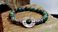 FREE SHIPPING  Men bracelet Beaded men bracelet by FosforStore, $35.00