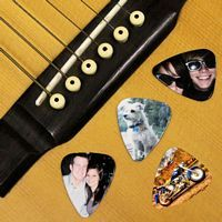 Personalized Guitar Picks Bulk Pricing are great for bands and musicians who need lots of guitar picks using the same image