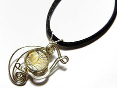 Wire Wrap Handmade Fractal Pendant with Necklace