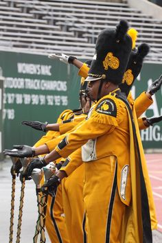 Black College Drum Majors | These are the drum majors from the Alabama State marching band and ...