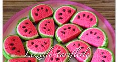 tried flavors, delicious-recipes: watermelon cookies - Healthy Eating Tips, Healthy Drinks, Healthy Nutrition, Watermelon Cookies, Cookies Decorados, Biscuits, Countertop Oven, Paint Cookies, Steamed Buns