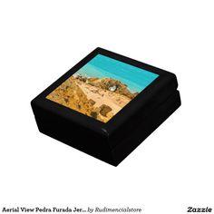 Aerial View Pedra Furada Jericoacoara Brazil Jewelry Box