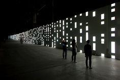 Unidisplay is an audiovisual #installation designed by German artist Carsten Nicolai