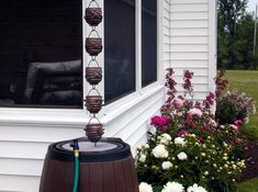 Rain chains and garden accessories - buy direct at discounted prices Earth Day Facts, Rain Barrel, Beer Garden, Garden Accessories, Water Features, Wind Chimes, Outdoor Gardens, Garden Design, Rain Chains