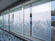Rideau japonais en tissu LASER MEDEA P Collection Systems Collection by CRÉATION BAUMANN