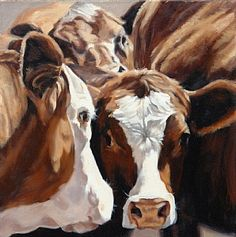 Denise Rich – Oil Paintings Of Cows