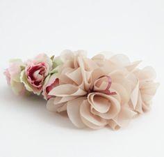 Rose flower banana hair clip