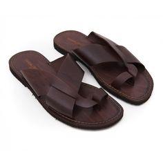 Sandalo versosud marrone da uomo