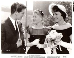 Stephen Boyd, Hope Lange, Diane Baker in The Best of Everything about 1959. Also starred Suzy Parker, Louis Jourdan, and others.  I haven't seen it in many years but remember it as a favorite of my youth.