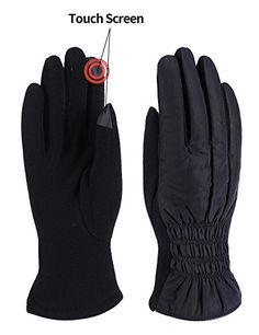 Women Winter Warm Gloves Fleece Lining Thick Windproof Outdoor Hand Mittens Touch Screen *** You can get more details by clicking on the image. (This is an affiliate link)