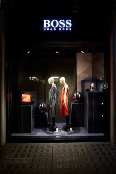 "HUGO BOSS, London, UK, ""People are still flocking to Bond Street to get their hands on the A/W Collection"",design by Chameleon Visual, pinned by Ton van der Veer"