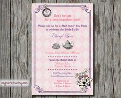 Alice in Wonderland Tea Party Invitation  Printable by pegsprints, $10.00