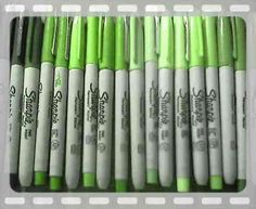 sharpies all about the green