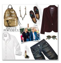 """""""Casual chic"""" by dmschar ❤ liked on Polyvore featuring Chiara Ferragni, Thomas Wylde, Christian Louboutin, Hermès, Gucci, MANGO and Ray-Ban"""