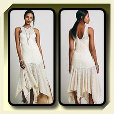 Free People Asymetrical Lace Slip Dress Beautiful Ivory sheer dotted mesh slip dress by Intimately Free People features a plunging V- neckline, dropped waistline with a flutter skirt with scalloped trim..nylon- spandex, slip not included Free People Dresses Maxi