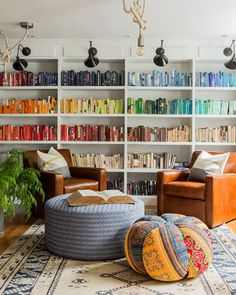 Color block your books - get more color blocking ideas by clicking on the link.