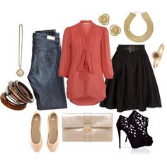 Day to Evening Coral Blouse