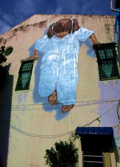 Streetart - Kung-Fu Girl in Georgetown (Penang), Malaysia
