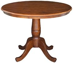 International Concepts 36Inch Round Pedestal Table 30Inch Espresso >>> Click image to review more details.