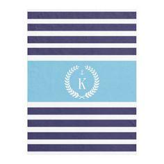 #Personalized #Monogram #Nautical #Stripe #Navy #Blue #Aqua #Fleece #Blanket #boys #bedroom #nursery #college http://www.zazzle.com/personalized_family_crest_stripe_pattern_navy_aqua_manualwwfleeceblanket-256076745064624200?rf=238213022379565456