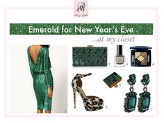 emerald, green, new year's eve dress