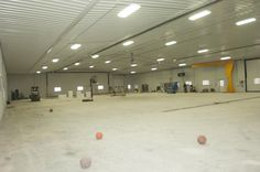 Morton insulated hybrid farm shop interior in Gresham, Nebraska.
