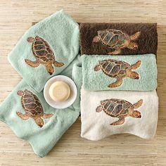 Island Sea Turtle Towels
