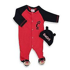 reputable site ad88a d40d3 image of University of Cincinnati Mascot 1-Piece Footie w Cap University Of  Cincinnati