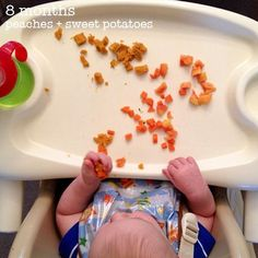 Baby-Led Weaning and snack ideas (4-6 months and beyond) *CUTE BLOG*