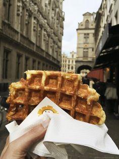 Nicht versäumen! In Brüssel eine Belgische Waffel essen! City Guide #Brussels #Belgium