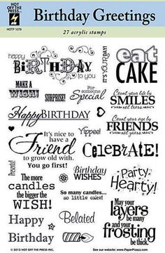 Birthday Greetings - Clear Stamps