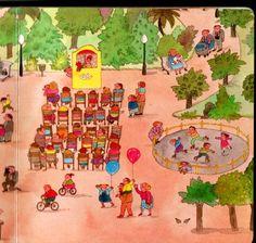 Het park, praatplaat voor kleuters / parque 2