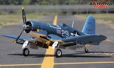 Super F4U Corsair V2 RC Warbird Airplane - Radio Controlled Super F4U Corsair V2 Military Plane - RC