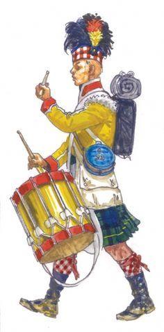 "Tamburo del 92 rgt. fanteria inglese ""Highlanders"""