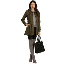Olive Urban Girl Trench