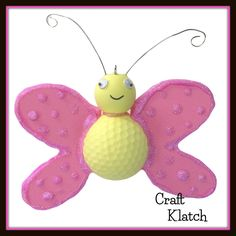 butterfly, butterfly crafts, craft, crafts, crafting, craft ideas, idea, ideas, spring, spring crafts, diy, recycling, recycling crafts, golf ball crafts,