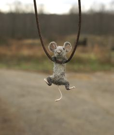 Adorable little mouse.  Available on Etsy. Bought one for my daughter for Christmas.