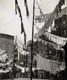 Court of first model tenement house in New York, 72nd Street...    Digital ID: 482804. Court of first model tenement house in New York, 72nd Street and First Avenue, Manhattan.. Abbott, Berenice -- Photographer. March 16, 1936
