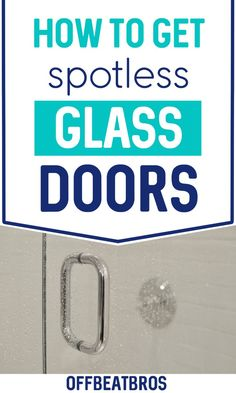 Looking for ways to clean those dirty glass shower doors. Well, here are 13 easy cleaning tips that will make cleaning those shower doors easy. Cleaning Spray, Household Cleaning Tips, Diy Cleaning Products, Cleaning Hacks, Cleaning Glass Shower Doors, Welcome Signs Front Door, Shower Cleaner, Glass Shower Door Cleaner, Soap Scum
