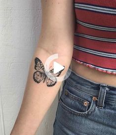 A butterfly tattoo is a classic tattoo with a long history of both men and women getting butterfly tattoos. Although a butterfly tattoo can look great when done right it can also look generic and hard to recognize when done by a bad tattoo artist so it is important to take the time to research tattoo artists ... Read moreButterfly Tattoos #butterflytattoos #tattooideas Forearm Flower Tattoo, Small Butterfly Tattoo, Small Forearm Tattoos, Small Flower Tattoos, Cute Small Tattoos, Cute Tattoos, Tattoo Small, Tattoo Arm, Tattoos Phönix