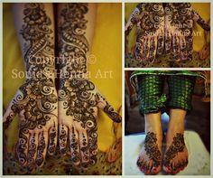 Colorful mehndi  Arabic design