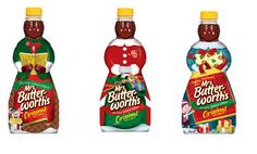 Mrs. Butterworth's Syrup Shrink Wrap Christmas Bottle Sleeve