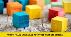 Stack �em Up! 10 Fun Filled Language Activities That Use Blocks