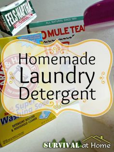 Homemade Laundry Detergent (via Survival at Home)