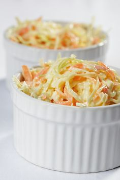 How to make easy delicious coleslaw dressing with 4 items Coleslaw Salad, Creamy Coleslaw, Coleslaw Dressing, Real Food Recipes, Vegan Recipes, Cooking Recipes, Clam Chowder Recipes, Cole Slaw, Slaw Recipes