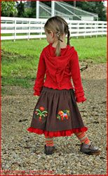 Swedish girl outfit - Fall in Stockholm European children boutique clothing