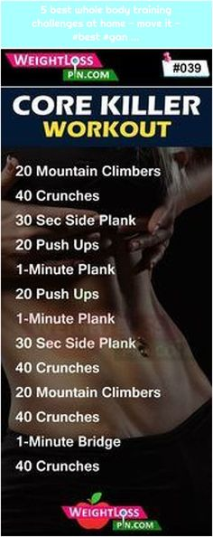 5 best whole body training challenges at Best Total Body … Ad Workout, Flat Belly Workout, Abs Workout Routines, Core Workout Challenge, Killer Workouts, Butt Workouts, Full Body Workout At Home, Body Training, Total Body