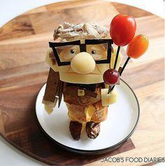 Mit Essen spielt man nicht? Diese Mutter sieht das anders #up #pixar #disney #food #foodstyling