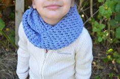 Handmade Crochet Soft Sapphire Blue Infinity Cowl by FarahsAttic, $12.00
