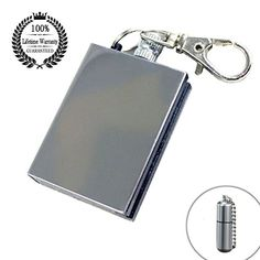 Survival Camping Emergency Fire Starter Flint Match Lighter Cigarette Keychain Square * Check this awesome product by going to the link at the image. Stove Accessories, Fireplace Accessories, Fire Starters, Decoration, Fireplaces, Flask, Lighter, Survival, Camping
